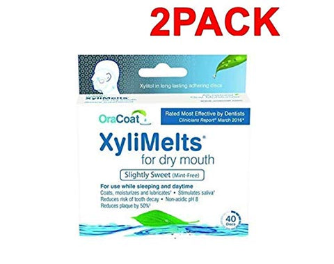 Dry Mouth Relief, Mint-Free (2 Pack 240 Discs)