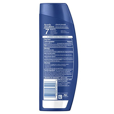 Head And Shoulders Clinical Strength Dandruff And Seborrheic Dermatitis Shampoo 13.5 Fl Oz (Pack Of