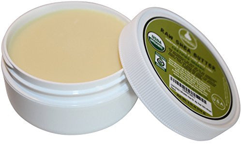 Unrefined Raw Shea Butter; Certified Organic; Eczema, Acne Relief; Natural Noncomedogenic Face Moist