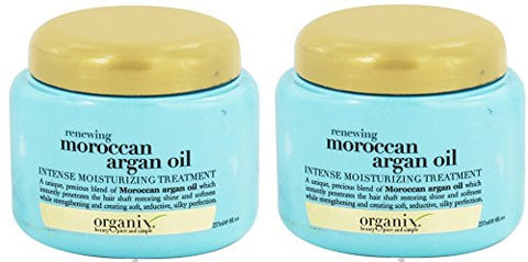 Organix Renewing Argan Oil Of Morocco Intense Moisturizing Treatment, 8 Ounce (Pack Of 2)