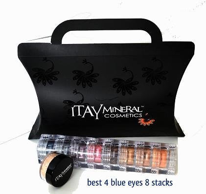 Itay Mineral Makeup Eye Shadow 8 Stacks Shimmers Color: