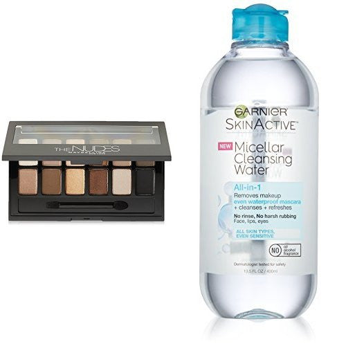 Maybelline Eyeshadow Palette And Garnier Skin Active Micellar Water Makeup Remover
