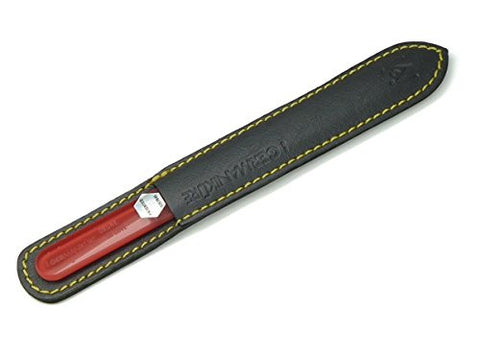 Drunk In Love Genuine Patented Czech Mantra Crystal Glass Manicure Pedicure Nail File In Leather