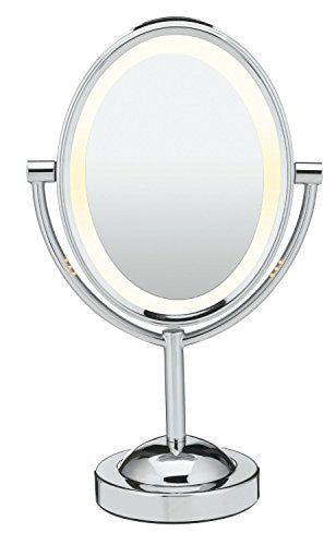 Conair Oval Double Sided Illuminated Mirror, Polished Chrome Finish