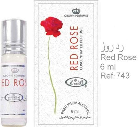 Al Rehab Red Rose 6 Ml (.2 Oz) Perfume Oil