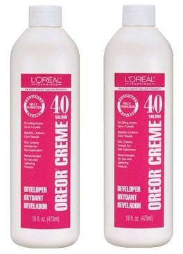 L'oreal Oreor Creme 40 Volume Developer, (2 Pack Of 16 Ounce)