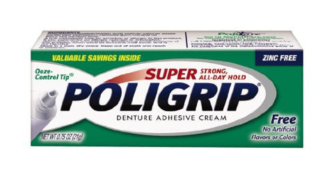Super Poligrip Free Travel Size, .75 Ounce Packages (Pack Of 12)