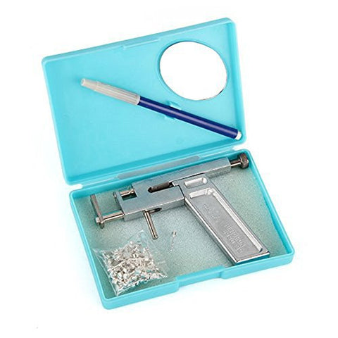 Professional Sale Safety Ear Piercing Tool Kit For Ear Nose Lip Safety With Earring Studs Hb88 Beauty & Health