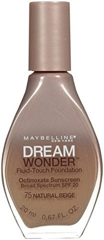 Maybelline New York Dream Wonder Fluid Touch Foundation, Natural Beige, 0.67 Fluid Ounce