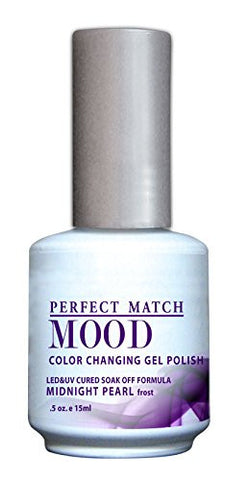 Lechat Perfect Match Mood Gel Polish, Midnight Pearl, 0.500 Ounce