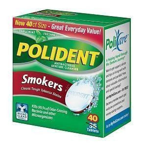 Polident Polident Smokers Denture Cleanser, 40 Count (Pack Of 6)