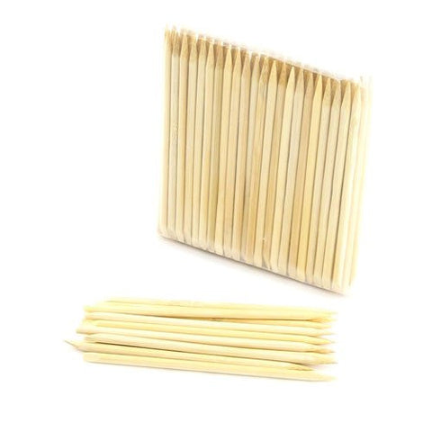 Bamboo Mn Disposable Bamboo 11cm 4mm Nail Art Manicure Pedicure Sticks Cuticle Pushers Remover Tool,