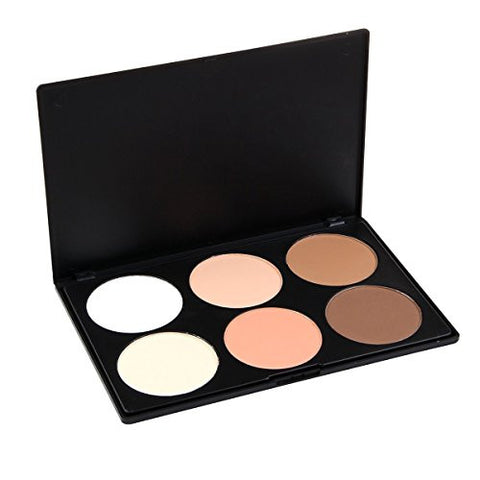 Lefv Professional 6 Colors Concealer Camouflage Foundation Makeup Powder Contour Palette Face Contou