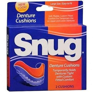 Snug Denture Cushions   2 Ea By Mentholatum