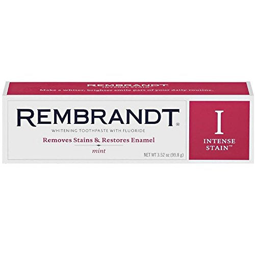 Rembrandt Rembrandt Toothpaste Intense Stain Mint, Mint 3 oz (Pack of 3)