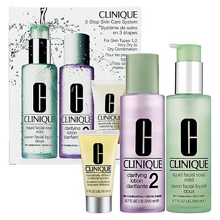 Clinique 3 Step Care System 3 Pieces Set Very Dry To Dry Combination Skin