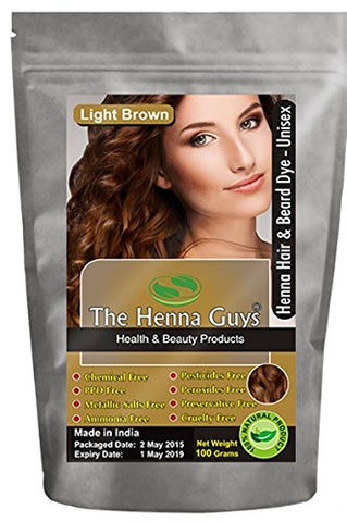 3 Pack Light Brown Henna Hair & Beard Dye/Color   The Henna Guys