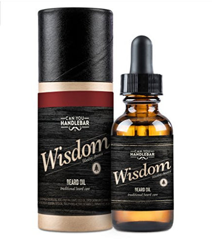Wisdom Beard Oil | Manly, Woodsy Scent | Best Softener And Conditioner For Itchy Beards