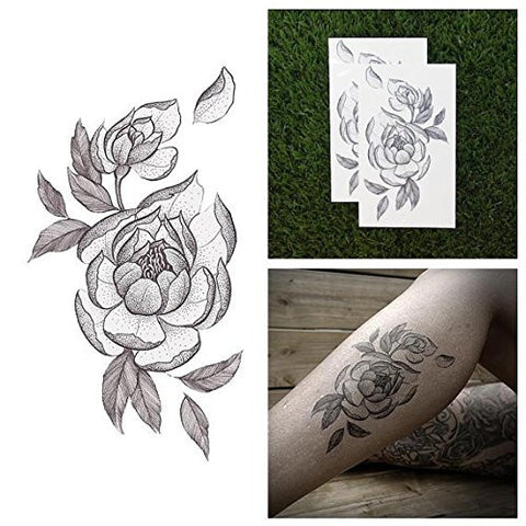Tattify Flower Temporary Tattoo   Bride And Bloom (Set Of 2)   Other Styles Available   Fashionable