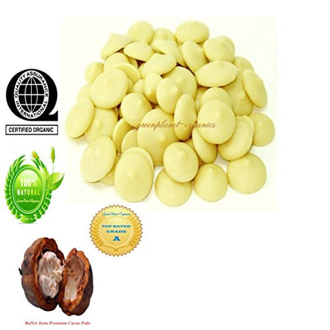 8oz Certified Organic Unsweetened Cocoa Butter Wafers (Make Your Own Organic Chocolate!)