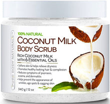 Pure Body Naturals Coconut Milk Body Scrub With Dead Sea Salt, Almond Oil And Vitamin E For All Skin