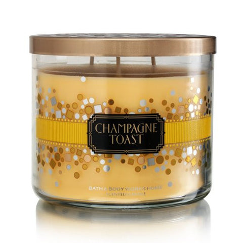 Bath Body Works Champagne Toast 3 Wick Scented Candle