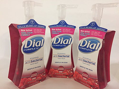 Dial Complete Foaming Hand Wash Antioxidant, Power Berries 7.5oz (Pack Of 3)