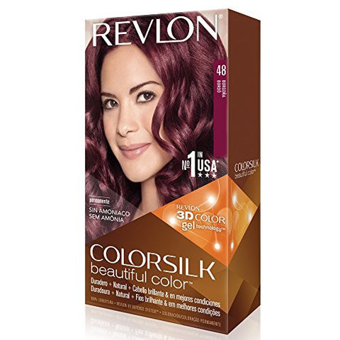 Revlon Color Silk Beautiful Color, 48 Burgundy 1 Ea (Pack Of 3)