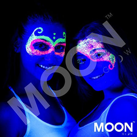 Moon Glow   Blacklight Uv Glitter Face & Body Gel   0.42oz Set Of 6   Blacklight Face Paint   Glows
