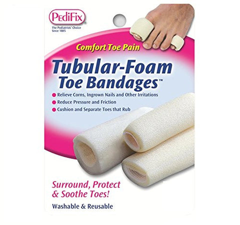 Pedifix Tubular Foam Toe Bandages, 3 Count (Pack Of 2)