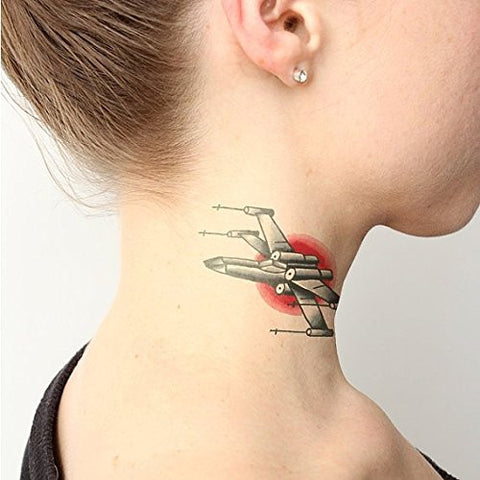 Tattify X Wing Temporary Tattoo   X Marks The Spot (Set Of 2)   Other Styles Available   Fashionable