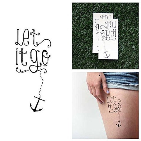 Tattify Let It Go Temporary Tattoo   Portside (Set Of 2)   Other Styles Available   Fashionable Temp