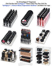 Image of BYALEGORY Acrylic Lip Gloss Makeup Organizer | 28 Spaces Designed To Stand, Lay Flat & Be Stacked