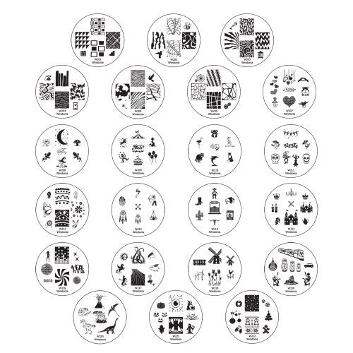 Winstonia Second Generation Nail Art Stamping Image Plates Set   22 Pieces W/ 160 Images