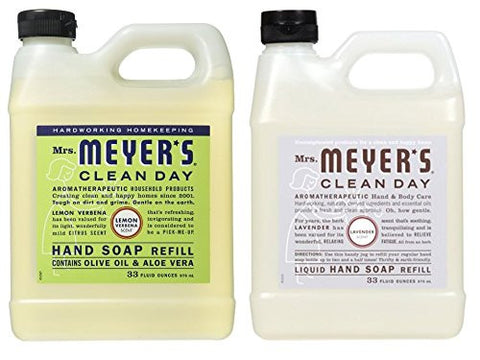Mrs. Meyers Liquid Hand Soap Refill, 33 Fl Oz (Variety Pack   2)