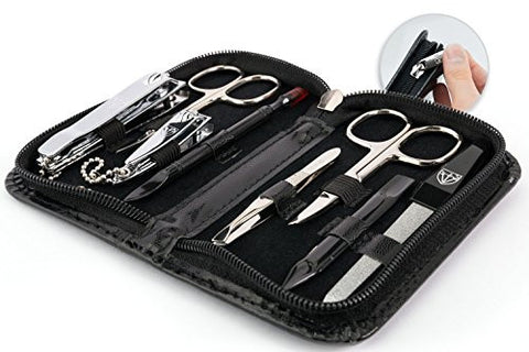 3 Swords Germany   Brand Quality 8 Piece Manicure Pedicure Grooming Kit Set For Professional Finger