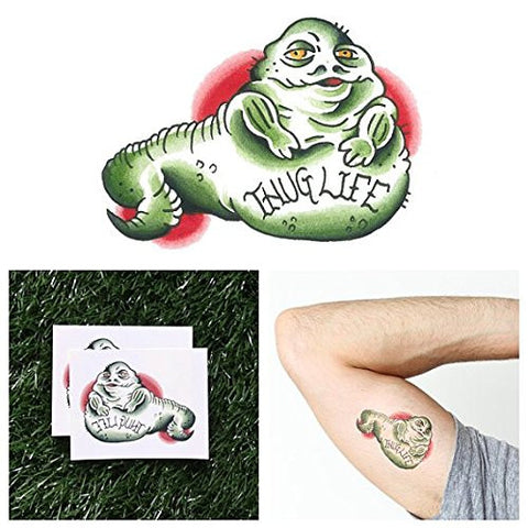 Tattify Jabba The Hutt Temporary Tattoo   Gangsta Gangsta (Set Of 2)   Other Styles Available   Fash