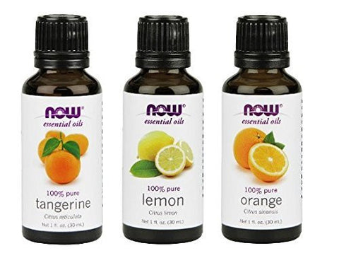 3 Pack Variety Of Now Essential Oils: Citrus Blend   Orange, Tangerine, Lemon