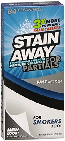 Stain Away Cleanser For Partials 8.40 Oz (Pack Of 4)