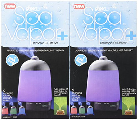 Green Air Spa Vapor + Advanced Wellness Instant Healthful Mist Therapy (2 Pack)