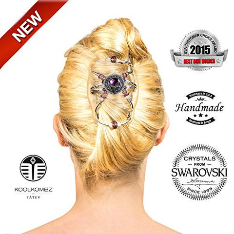 Best Bun Hair Clip For Women   Amazing With Hair Extensions   Fancier Than Bows   Can Be Used With O