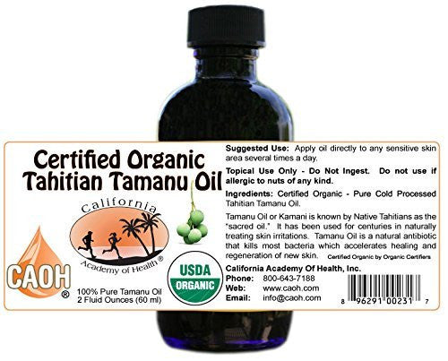 Tamanu Oil   100% Pure Certified Organic Tahitian Tamanu (Kamani Oil) From Caoh® (1   2 Oz Bottle)