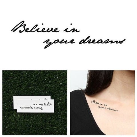 Tattify Motivational Quote Temporary Tattoo   Mantra (Set Of 2)