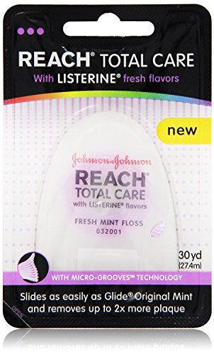 Reach Total Care Floss With Listerine Fresh Flavors 30 Yard, (Pack Of 12)
