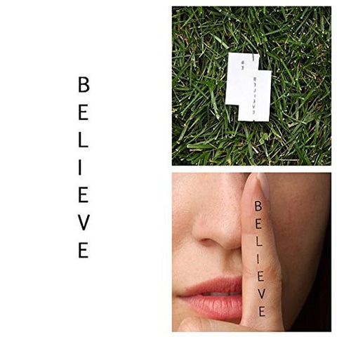 Tattify Believe Temporary Tattoo   Column (Set Of 2)   Other Styles Available   Fashionable Temporar