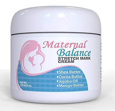 Maternal Balance Stretch Mark Cream For Pregnancy And After, C Section Scar Treatment With Cocoa But