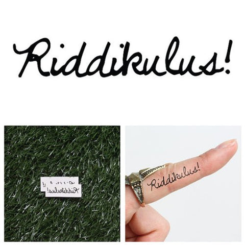 Tattify Riddikulus Temporary Tattoo   Comic Relief (Set Of 2)   Other Styles Available   Fashionable