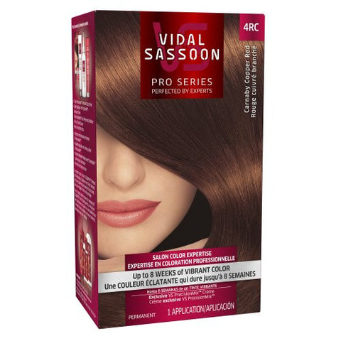 Vidal Sassoon Pro Series Hair Color, 4 Rc Dark Copper Red, 1 Kit