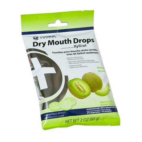 Hager Pharma Dry Mouth Drops, Melon, 2 Ounce