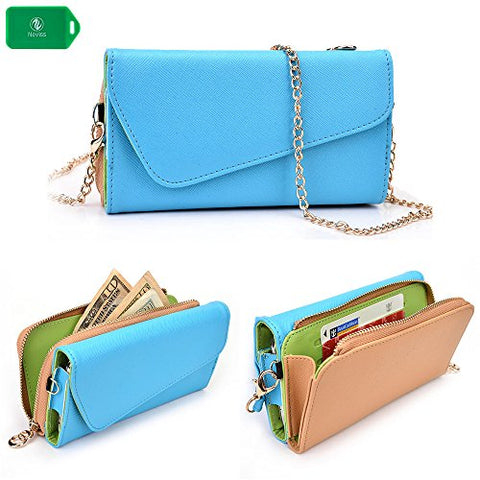 quality design 4f6ac 69beb Cellphone wallet wristlet case, New Holds Phone Cards Cash- Universal fit  for ...
